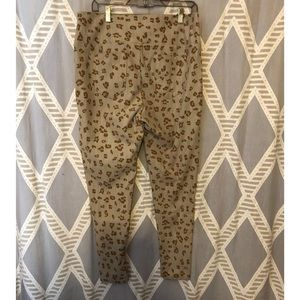 Agnes & Dora Cheetah Moto Jeggings